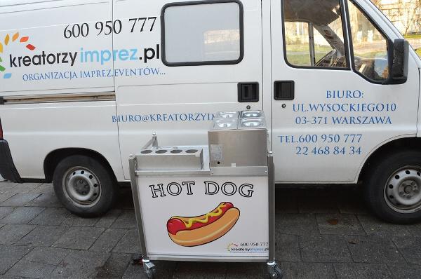 stanowisko z hot dogami warszawa wynajem kreatorzyimprez