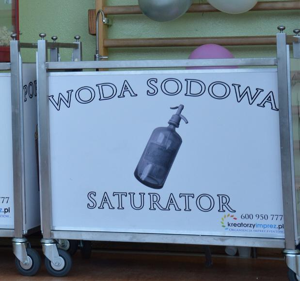 saturator z wodą sodową wynajem warszawa