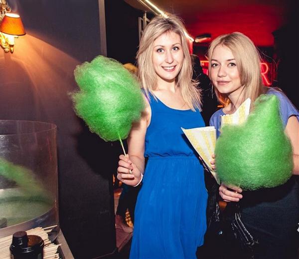sweet party kolorowa wata cukrowa