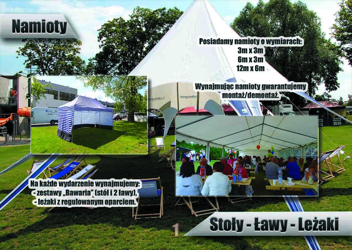 Wymiary namiotów