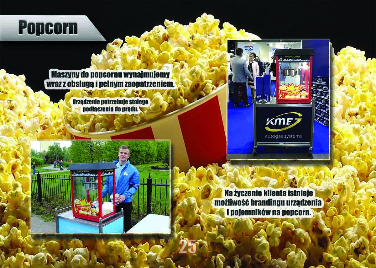 Stanowisko z popcornem