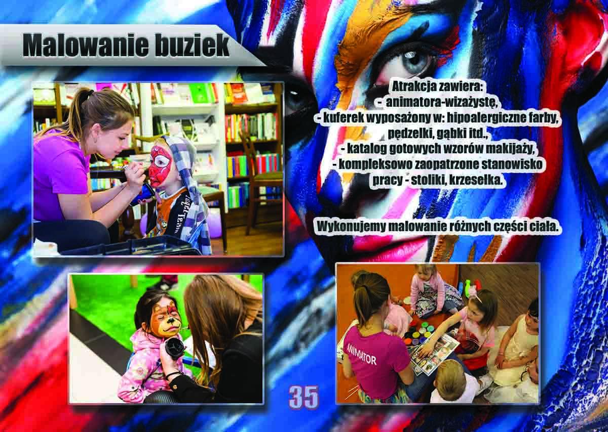 Malowanie buziek dzieciom